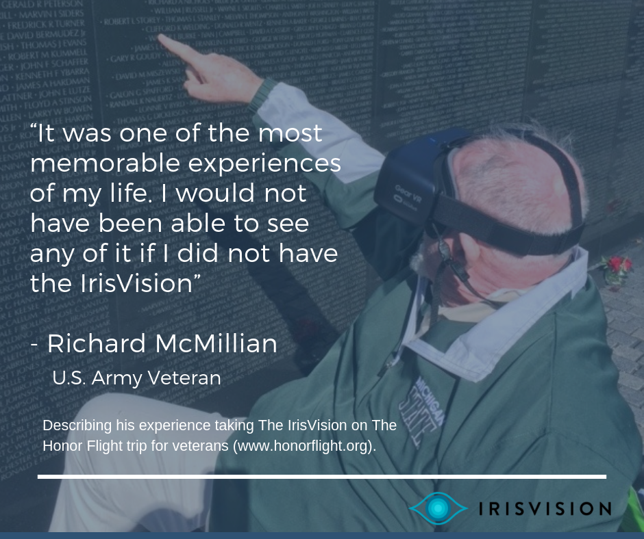 Richard McMillian IrisVision Story (Veteran's Day Special)