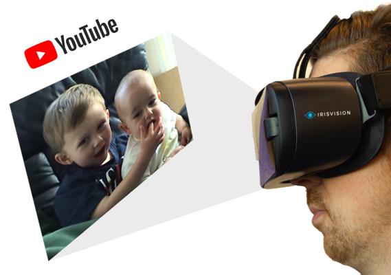 Low Vision Glasses to Watch Videos